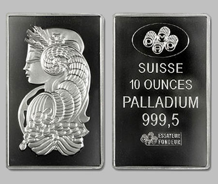 Pamp Suisse Palladium Bar 10 Ounce