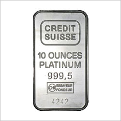 Credit Suisse 10 OZ Platinum Bar
