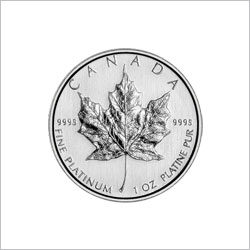 1 OZ Canadian Platinum Maple Leaf