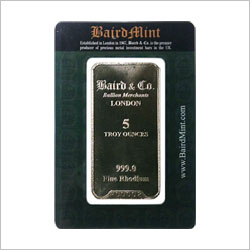 Baird & Co. 5 OZ Rhodium Bar