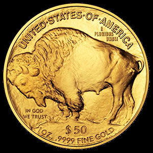 American Buffalo Gold Coin 1 OZ Reverse