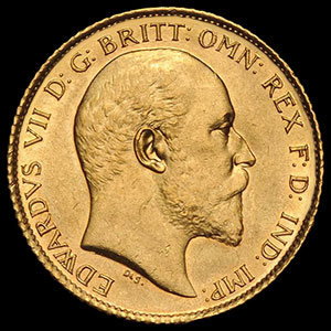 British Sovereign Gold Coin Obverse