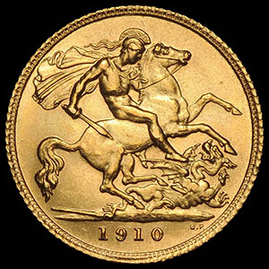 British Sovereign Gold Coin Reverse