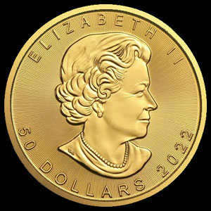 Varied Dates Canadian Gold Maple Leaf 1 OZ Obverse