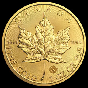 Varied Dates Canadian Gold Maple Leaf (Scratchy) 1 OZ Reverse