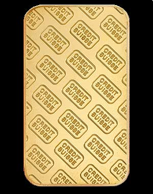 Credit Suisse Gold Bullion Bar 1 OZ Reverse