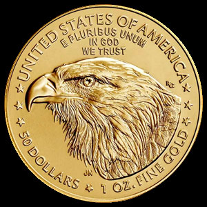 American $50 Gold Eagle 1 OZ Reverse