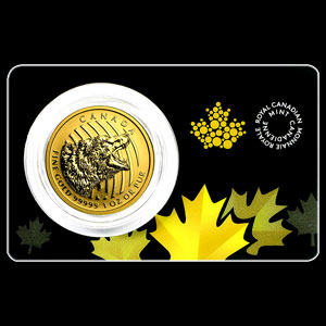 Canadian Gold Roaring Grizzly 1 OZ Reverse
