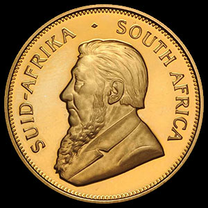 South African Gold Krugerrand 1 OZ Obverse