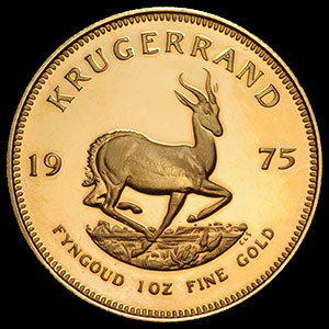 South African Gold Krugerrand 1 OZ Reverse