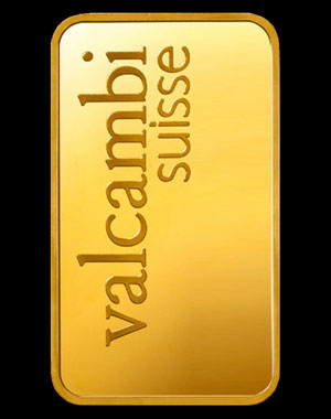 Valcambi Gold Bullion Bar 1 OZ Reverse