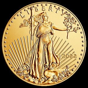 American $5 Gold Eagle 1/10 OZ Obverse