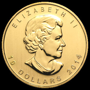Varied Dates Canadian Gold Maple Leaf 1/4 OZ OZ Obverse