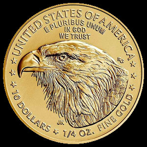 American $10 Gold Eagle 1/4 OZ Reverse