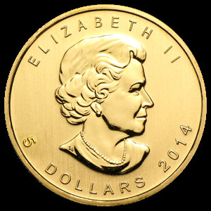Varied Dates Canadian Gold Maple Leaf 1/10 OZ Obverse