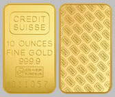 Credit Suisse Gold Bullion Bar 10 OZ