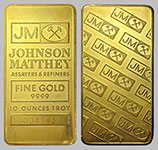 Johnson Matthey Gold Bullion Bar 10 OZ