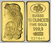 Pamp Suisse Gold Bullion Bar 10 OZ