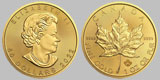 Varied Dates Canadian Gold Maple Leaf (circulated) 1 OZ