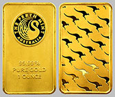Perth Mint Gold Kangaroo Bullion Bar 1 OZ