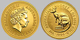 Perth Mint Australian Kangaroo Nugget Gold Coin 1 OZ