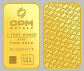 Ohio Precious Metals Gold Bullion Bar 1 Ounce