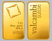 Valcambi Gold Bullion Bar 1 Ounce