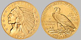 Indian Head Five Dollar Gold Half Eagle