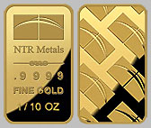 NTR Gold Bullion Bar 1/10 OZ