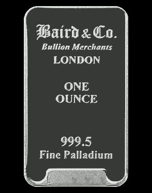 Baird & Co. Palladium Bullion Bar 1 OZ Obverse