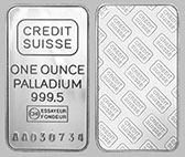 Credit Suisse Palladium Bullion Bar 1 OZ