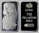 Pamp Suisse Palladium Bullion Bar 1 OZ