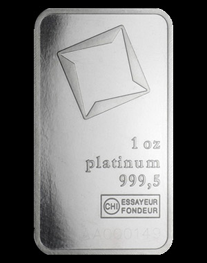 Valcambi Platinum Bullion Bar 1 OZ Obverse