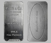 Baird & Co. Platinum Bullion Bar 10 OZ