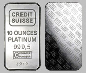 Crefit Suisse Platinum Bullion Bar 10 OZ
