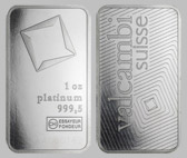 Valcambi Platinum Bullion Bar 1 OZ