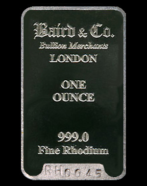 Buy Rhodium Bullion Bars Buy Rhodium Bars Online From
