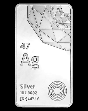 Elemetal Mint Silver Bullion Bar 10 OZ Reverse