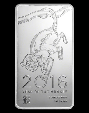 Elemetal Mint Silver Bullion Bar 10 OZ Obverse