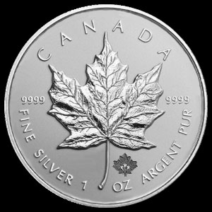 Canadian Silver Maple Leaf 1 OZ Reverse