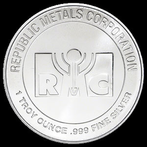 Republic Metals Silver Year of the Horse Round 1 OZ Obverse