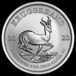 South African Silver Krugerrand 1 OZ Reverse