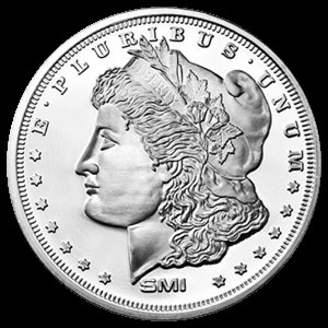 Sunshine Mint Silver Morgan Dollar Round 1 OZ Obverse