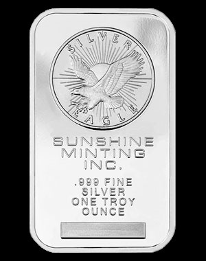 Sunshine Mint Silver Bullion Bar 1 OZ Obverse