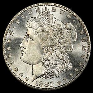 1878-1904 US Silver Morgan Dollar Obverse