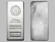 Royal Canadian Mint Silver Bullion Bar 100 OZ