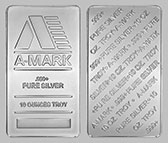 A-Mark Silver Bullion Bar 10 OZ