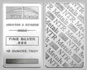 NTR Mint Silver Bullion Bar 10 OZ
