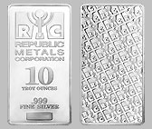 Republic Metals Silver Bullion Bars 10 OZ