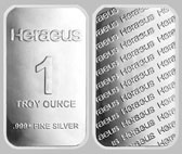 Heraeus Precious Metals Silver Bullion Bar 1 OZ